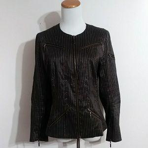 Vintage John Galliano Pinstripe Linen Jacket